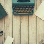 Desktop with a typewriter